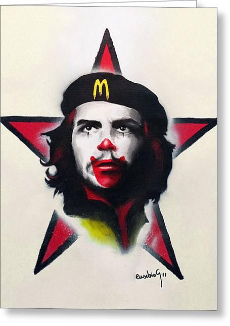 Monopoly Mixed Media Greeting Cards - Mc Che Guevara Greeting Card by Eusebio Guerra