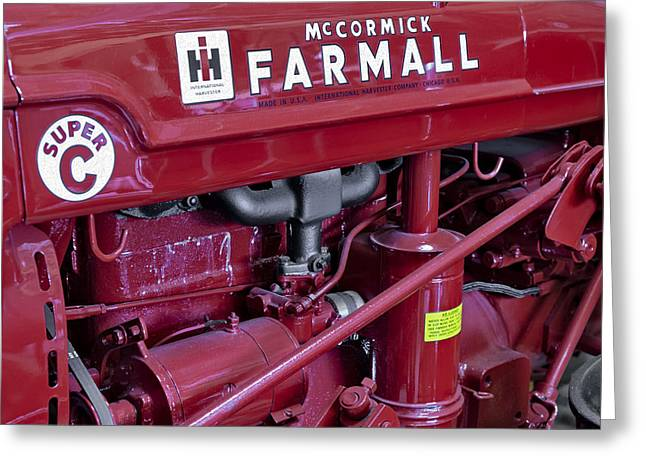 Mc Cormick Farmall Super C Greeting Card by Susan Candelario