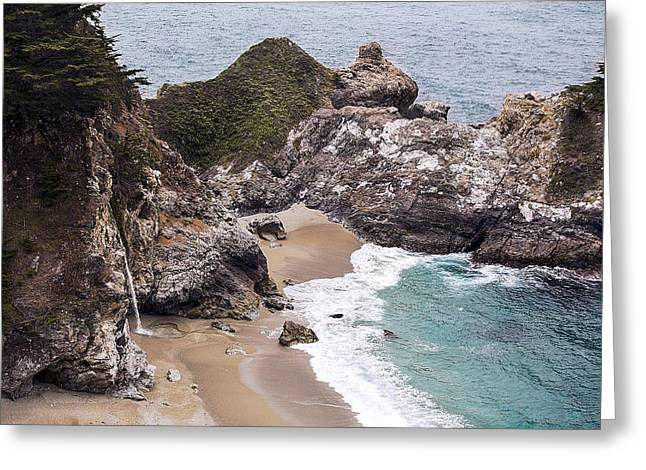 Big Sur Ca Greeting Cards - Mc Kay Falls Cove Big Sur By Denise Dube Greeting Card by Denise Dube