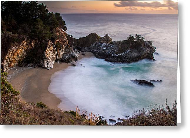 Big Sur Beach Greeting Cards - Mc Way Falls Greeting Card by Pierre Leclerc Photography