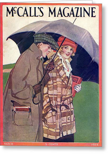 March Drawings Greeting Cards - McCalls Vintage Magazine March 1914 Greeting Card by Movie Poster Prints