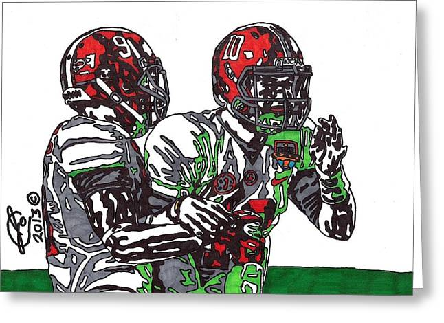 Player Greeting Cards - McCarron and Cooper Greeting Card by Jeremiah Colley