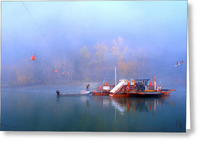 Autumn Prints Photographs Greeting Cards - McCLURE FERRY Greeting Card by Theresa Tahara