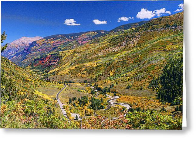 Roaring Fork Road Photographs Greeting Cards - McClure Pass Scenic Overlook Greeting Card by Allen Beatty