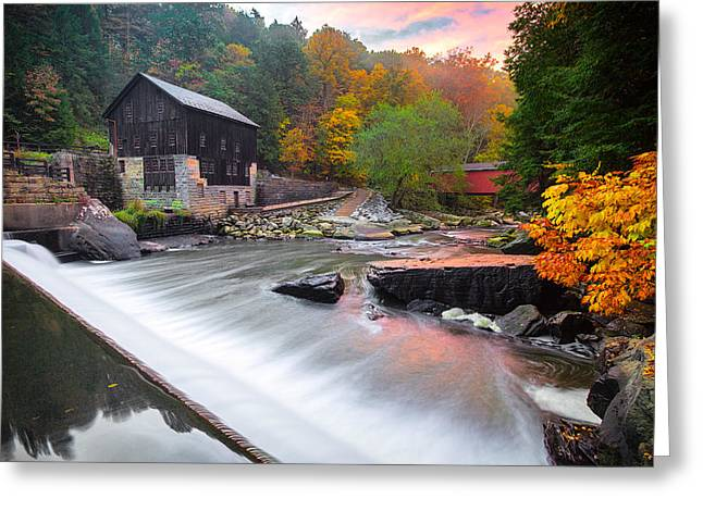 Mcconnell's Mill Fall  Greeting Card by Emmanuel Panagiotakis