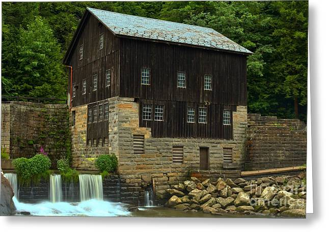 Mcconnells Mill Greeting Cards - McConnells Mill Grist Mill Greeting Card by Adam Jewell