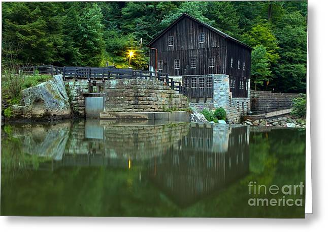 Mcconnells Mill Greeting Cards - McConnells Mill Landscape Reflections Greeting Card by Adam Jewell