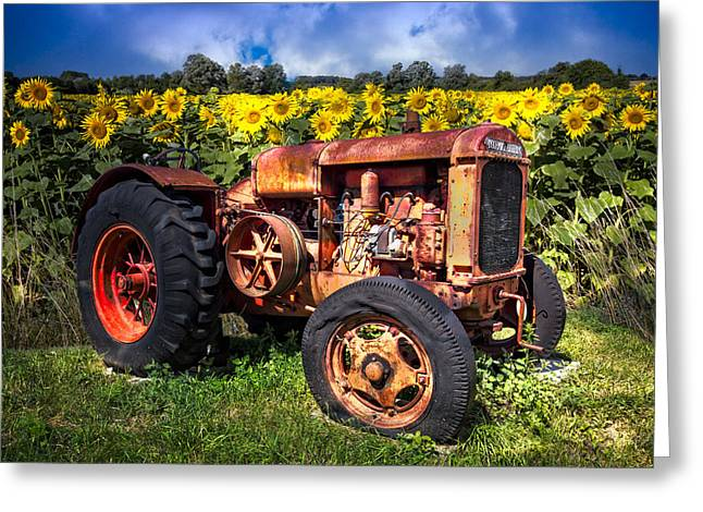 Mccormicks Farm Greeting Cards - McCormick Deering Greeting Card by Debra and Dave Vanderlaan