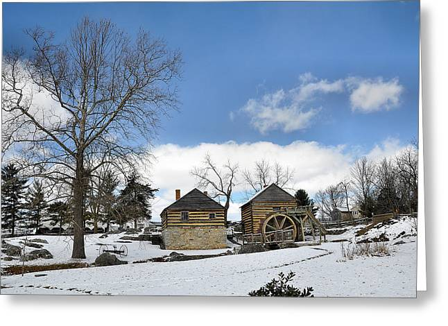Mccormicks Farm Greeting Cards - McCormick Farm in Winter Greeting Card by Todd Hostetter