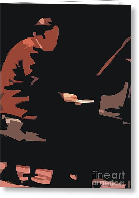 Best Sellers -  - Mccoy Greeting Cards - McCoy Tyner Greeting Card by Walter Oliver Neal