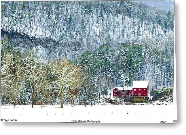 Grist Mill Greeting Cards - McCoys Mill II Greeting Card by Teena Bowers