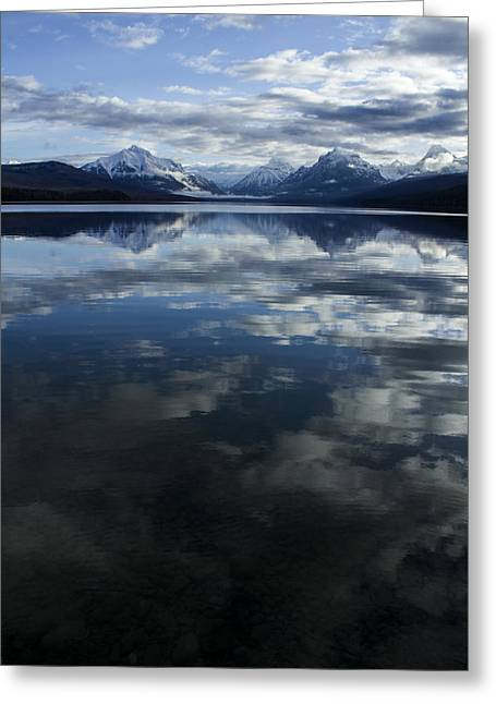 Apgar Greeting Cards - McDonald Lake Clouds Greeting Card by Jessie Mazur