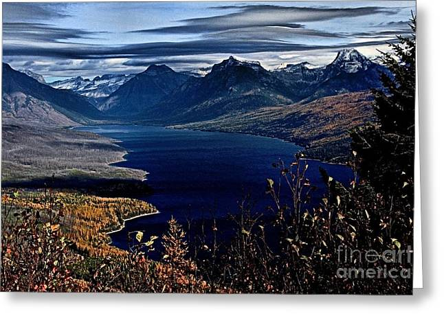 West Glacier Greeting Cards - McDonald Overlook Greeting Card by Adam Jewell