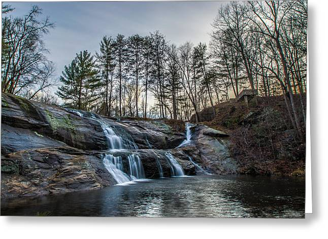 Hdr Landscape Greeting Cards - McGalliard Falls HDR Greeting Card by Randy Scherkenbach