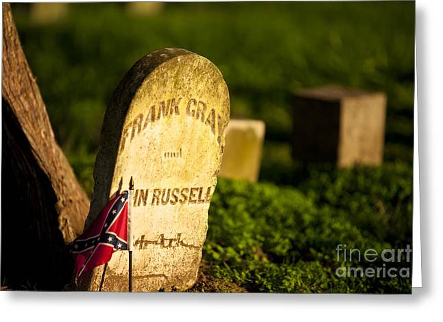 Confederate Flag Photographs Greeting Cards - McGavock Confederate Cemetery Greeting Card by Brian Jannsen