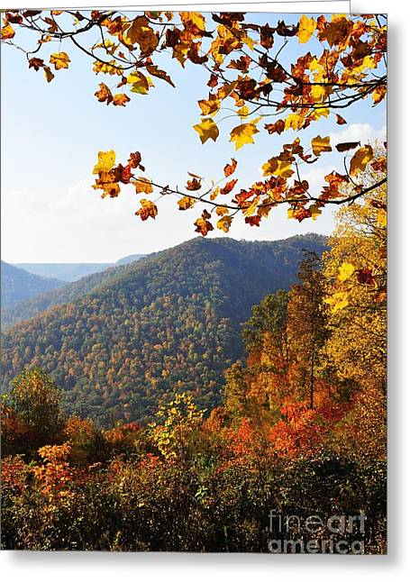 Webster County Greeting Cards - McGuire Mountain Overlook Greeting Card by Thomas R Fletcher