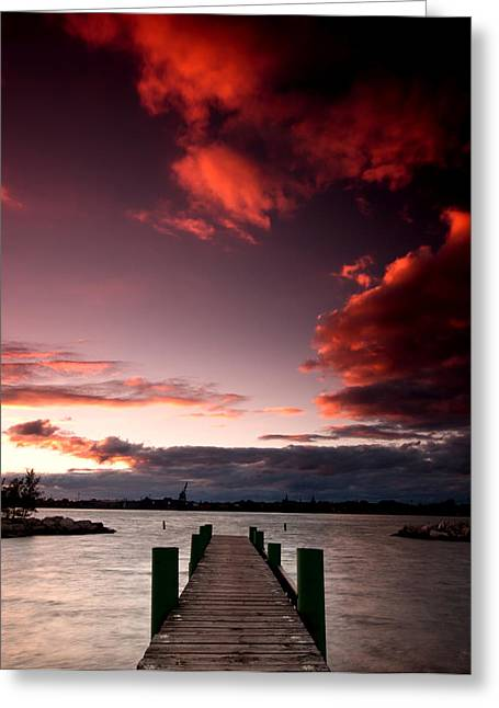Border Photographs Greeting Cards - McKee Sunset Two Greeting Card by Cale Best