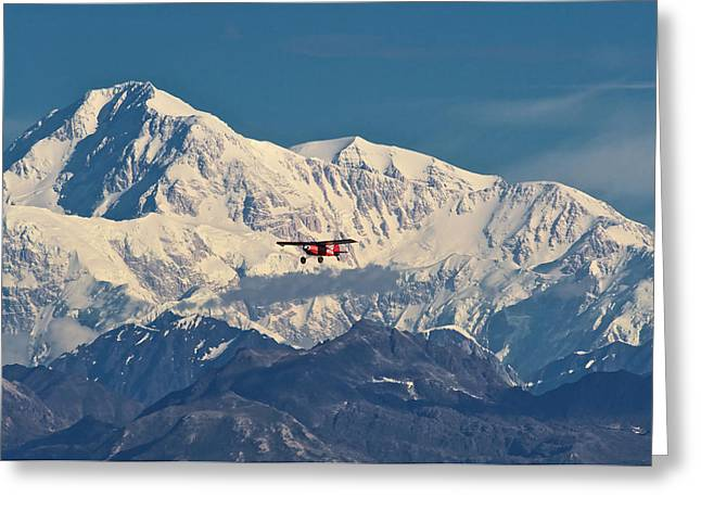Denali Greeting Cards - McKinley Air Greeting Card by Ed Boudreau