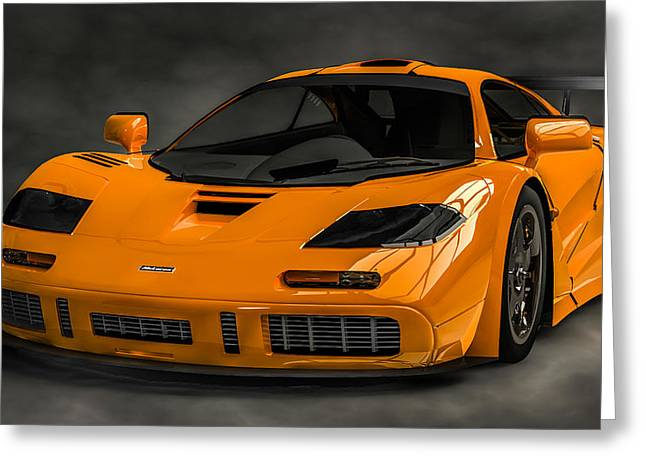 Lm Greeting Cards - McLaren F1 LM Greeting Card by Louis Ferreira