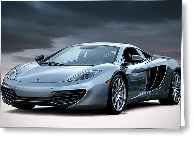 Mancave Greeting Cards - McLaren MP4 12C Greeting Card by Douglas Pittman