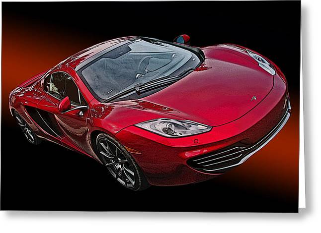 Mclaren Mp4-12c Greeting Card by Samuel Sheats