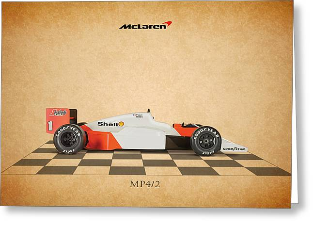 Formula 1 Greeting Cards - Mclaren MP4 1984 Greeting Card by Mark Rogan