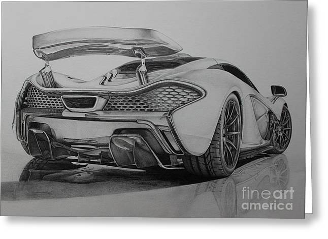 Exhaust Drawings Greeting Cards - McLaren P1 Greeting Card by Gary Reising