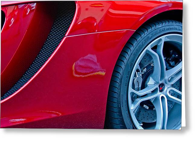 Professional Racing Greeting Cards - McLaren Wheel Greeting Card by Jill Reger