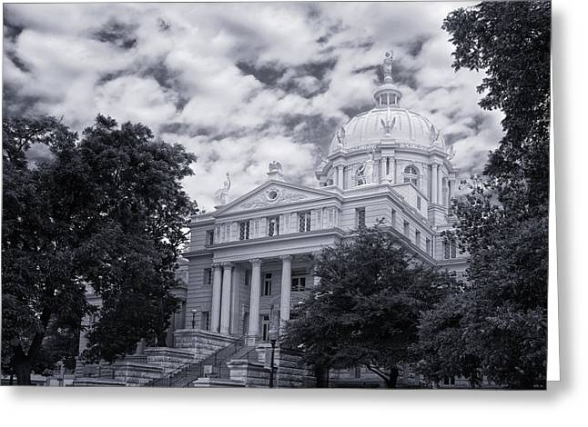 Waco Greeting Cards - McLennan County Courthouse Greeting Card by Joan Carroll