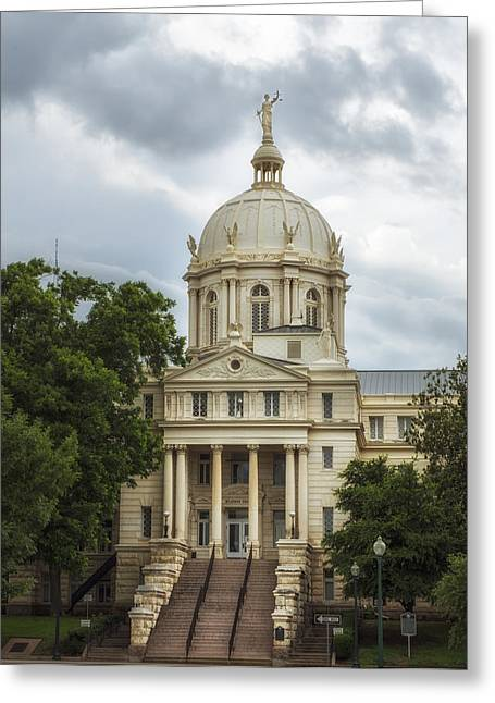 Waco Greeting Cards - McLennan County Courthouse - Waco Texas Greeting Card by Mountain Dreams