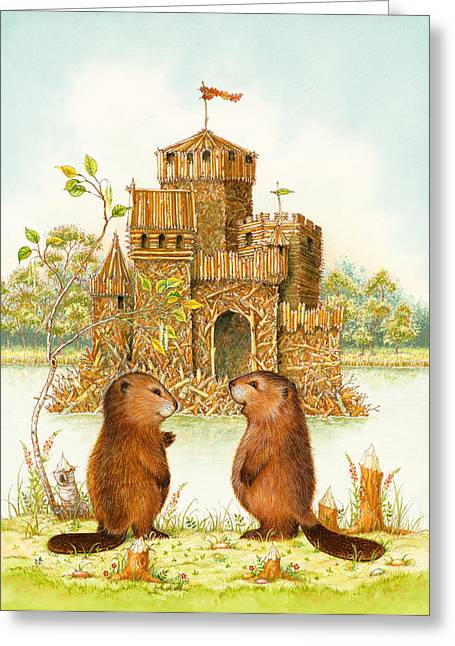 Beaver Greeting Cards - McLodge Greeting Card by Lynn Bywaters