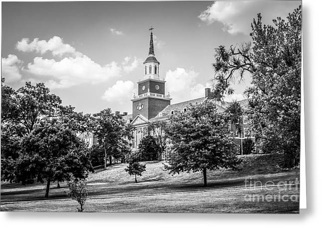 University Of Cincinnati Greeting Cards - McMicken College Black and White Picture Greeting Card by Paul Velgos