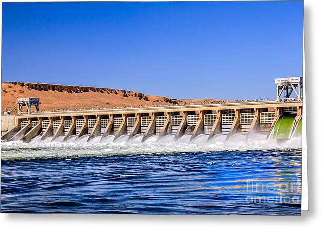 U.s Army Greeting Cards - McNary Dam Greeting Card by Robert Bales
