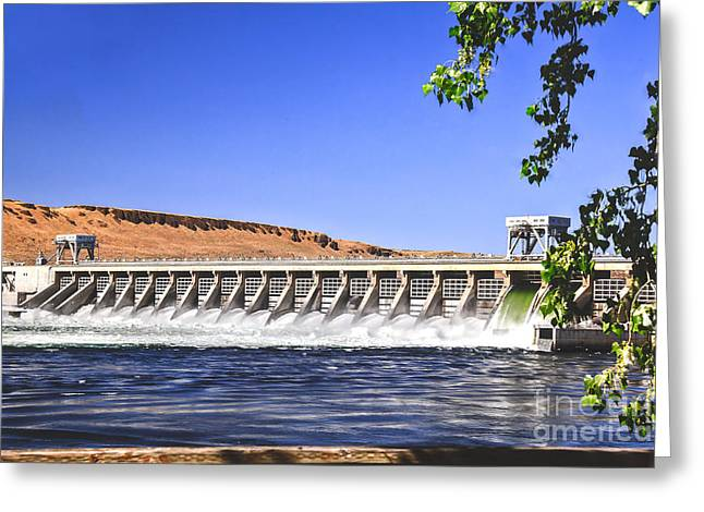 U.s Army Greeting Cards - McNary  Hydroelectric Dam Greeting Card by Robert Bales