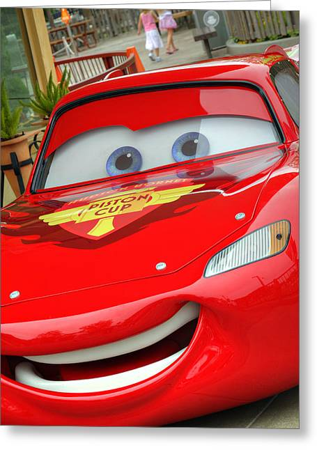 Images Lightning Greeting Cards - McQueen Greeting Card by Ricky Barnard