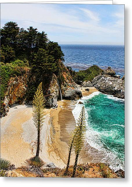 Pfeiffer Beach Greeting Cards - McWay Cove Greeting Card by Judy Vincent