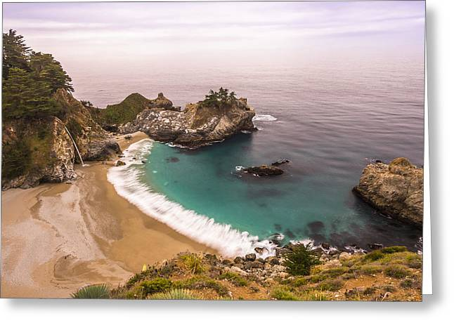 Beaches In Monterey Greeting Cards - McWay Fall  Big Sur California USA Greeting Card by Jianghui Zhang
