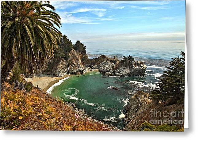 Mcway Falls Greeting Card by Adam Jewell