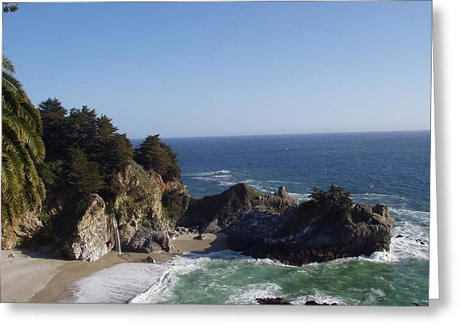 Big Sur Ca Greeting Cards - McWay Falls Greeting Card by Barbara Wilson