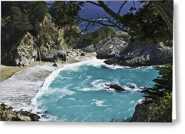 Mcway Falls - Big Sur Greeting Card by Paul Riedinger