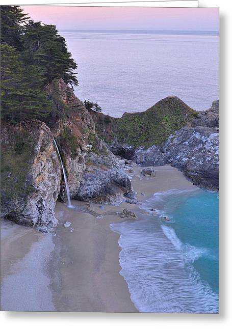 Recently Sold -  - Pfeiffer Beach Greeting Cards - McWay Falls - Big Sur Greeting Card by Stephen  Vecchiotti