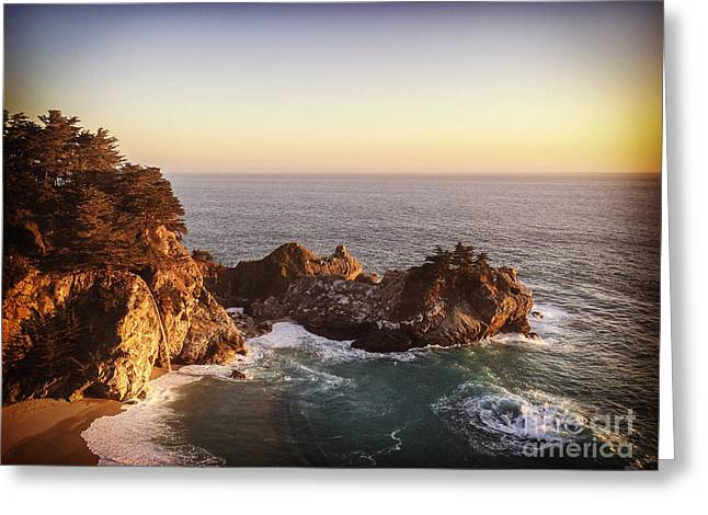 Pfeiffer Greeting Cards - McWay Falls California Greeting Card by Colin and Linda McKie