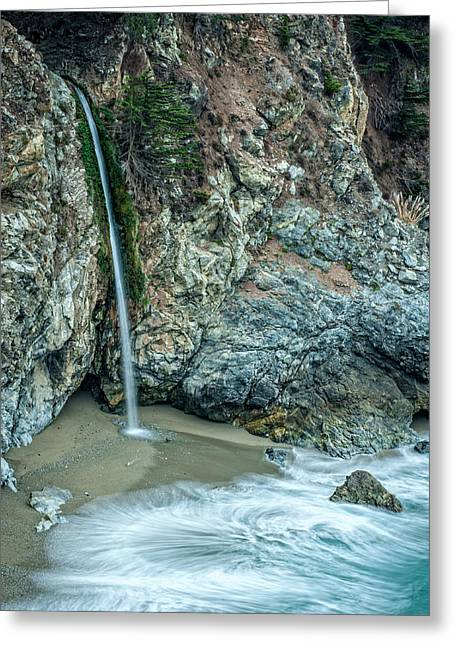 Big Sur Greeting Cards - McWay Falls Greeting Card by George Buxbaum