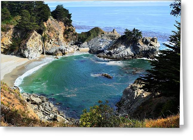 Pch Greeting Cards - McWay Falls II Greeting Card by Shahak Nagiel