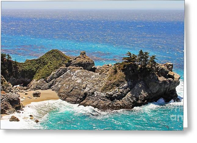 Mcway Falls Greeting Cards - McWay Falls Greeting Card by Jack Schultz