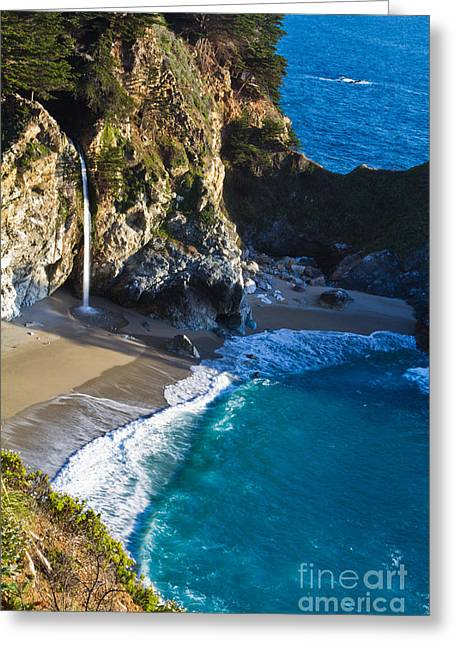 Big Sur Ca Greeting Cards - McWay Falls Julia Pfeiffer Bruns State Park CA Greeting Card by Dan Hartford