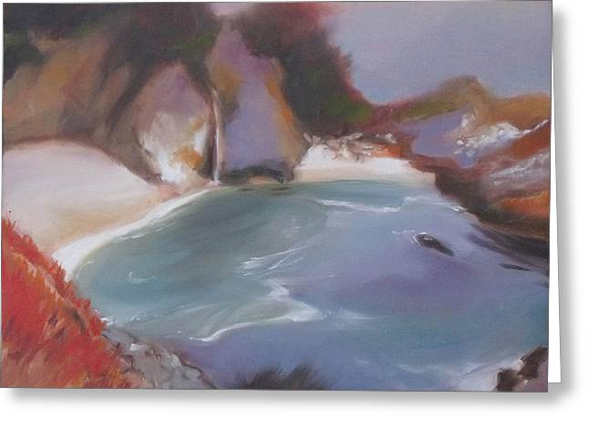 Big Sur Beach Greeting Cards - McWay Falls Greeting Card by Mary Hubley