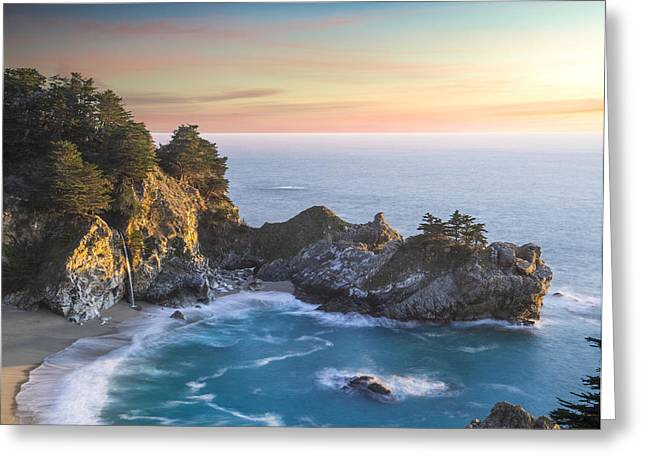 Mcway Falls Greeting Cards - Mcway Falls Greeting Card by Peter Irwindale