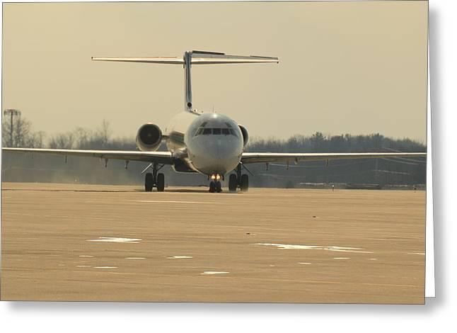 Plane Pyrography Greeting Cards - Md-88 Greeting Card by Joshua Glynn