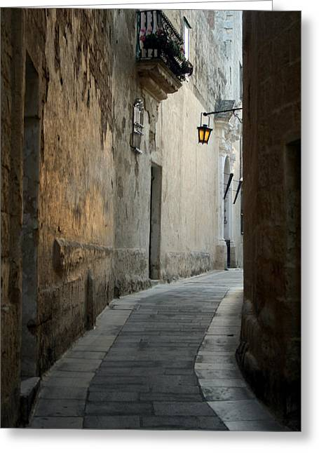Maltese Photographs Greeting Cards - Mdina-Malta Greeting Card by Wojciech Zwolinski